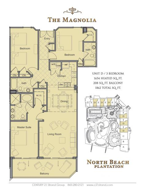 North Beach Plantation Floorplans