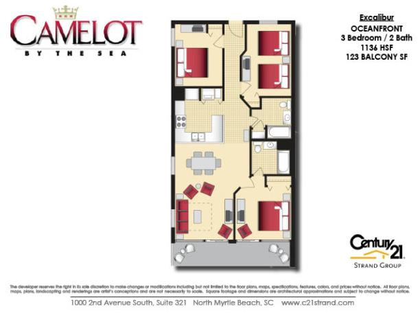 Camelot By The Sea Floorplans